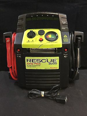 Quick Cable Rescue 3000 Battery Jump Booster Pack - 4 Gauge - 12V