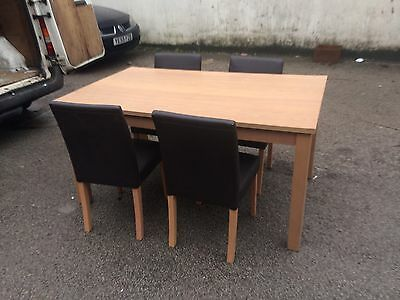 Ex Shop Display Table And 4 Chairs