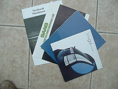 A Selection Of Saab Brochures