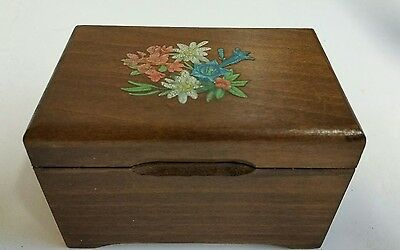 vintage wooden cigarette box
