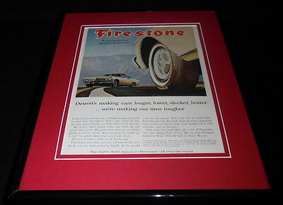 1965 Firestone Tires 11x14 Framed ORIGINAL Vintage Advertisement