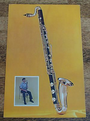 Bass Clarinet 1961 Cardboard Poster - Very Colorful