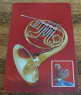 French Horn 1961 Cardboard Poster - Very Colorful