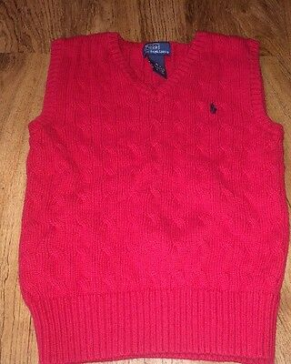 Very Nice Boys Polo Ralph Lauren Red Sweater Vest Size 6