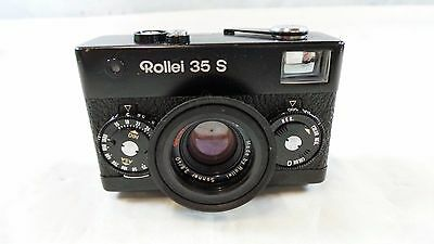 Classic Rollei 35S Compact Pro Black Finish 35mm Camera w. 40mm f2.8 Sonnar Lens