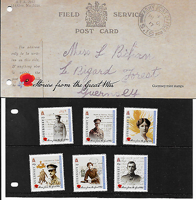 Guernsey  Stories From The Great War  P/pack   Mnh 2014 Lot 15