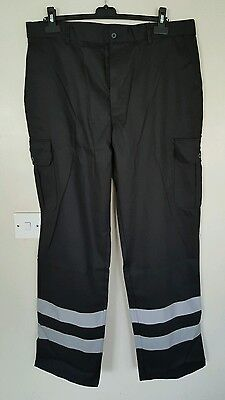 Alexandra Safety/Works trousers with reflective stripes. Black 38W 32L