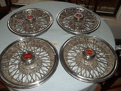"""NOS 70's & 80""""s Chevrolet Caprice Monte Carlo Wire Hubcaps   NICE"""