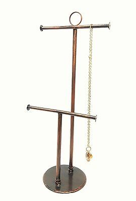 T-bar Tall Rustic Brown Simple Jewelry Stand Necklace Bracelet Display Holder