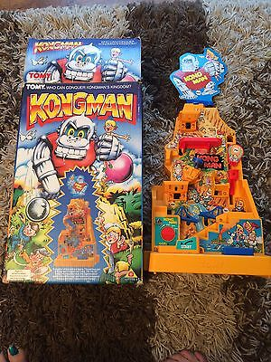 VINTAGE 1980s TOMY KONGMAN  -BOXED/ WORKING - BATTERY/ELECTRONIC GAME - VGC