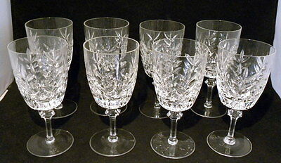 Set of 8 Gorham Lead Crystal STRASBOURG Pattern 6 7/8 In. Water Goblets  1973-74