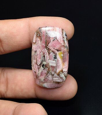 Lovely  ! 38.70 Cts. Natural Copper  Rhodochrosite Cushion Cab Loose Gemstones