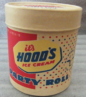 Vintage Ice Cream Box One Pint Hood's NOS