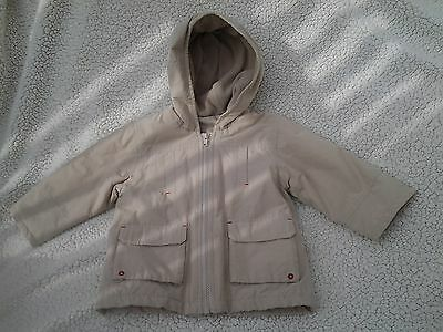Mothercare - Cream Hooded Coat - Age 18-24 Months