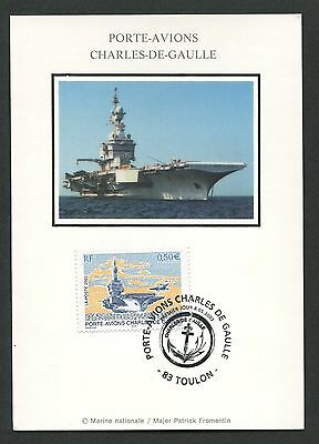 FRANCE MK KRIEGSSCHIFF WARSHIP MARINE AVIATION CARTE MAXIMUM CARD MC CM d4419