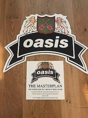 Original Oasis The Masterplan Lp Shop Display Sign. Super Rare!!! No Vinyl