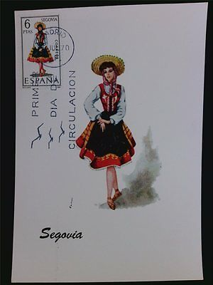 SPANIEN MK 1970 TRACHTEN SEGOVIA COSTUMES MAXIMUMKARTE MAXIMUM CARD MC CM c5572