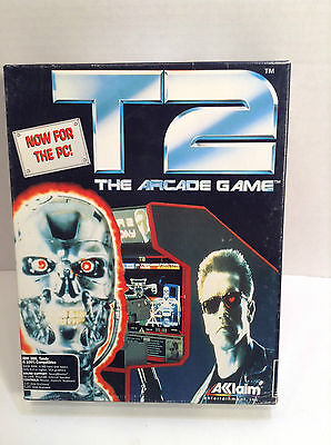 "terminator 2 T2 the arcade Game pc 3.5"" floppy personal computer Made In The USA"