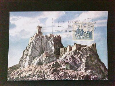 SPAIN MK 1966 CASTILLO BURG CASTLE MAXIMUMKARTE CARTE MAXIMUM CARD MC CM c5420
