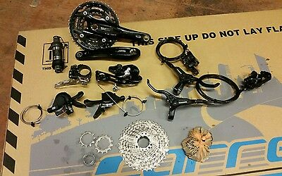 complete 3x10 shimano groupset and brakes