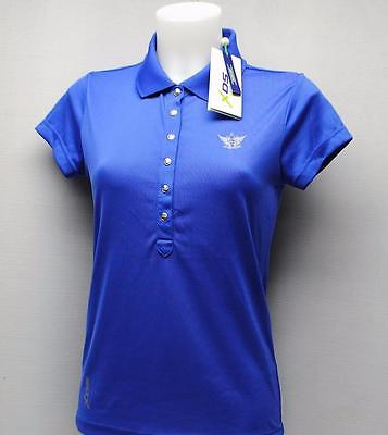 New Ladies XS Daily Sports XDS Royal Blue cap sleeve polyester golf polo