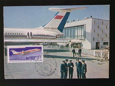 RUSSIA MK 1973 AEROFLOT FLUGZEUGE PLANE MAXIMUMKARTE CARTE MAXIMUM CARD MC c6688