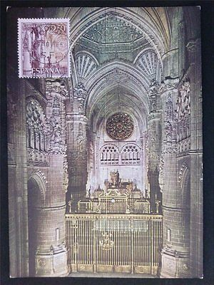 SPAIN MK 1965 KATHEDRALE BURGOS MAXIMUMKARTE CARTE MAXIMUM CARD MC CM c6989