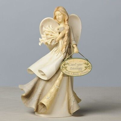 Foundations Count Your Blessings Angel Figurine by Karen Hahn, New, 4034783