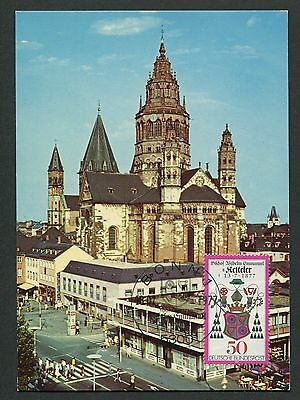 BUND MK 1977 BISCHOF KETTELER DOM MAINZ MAXIMUMKARTE MAXIMUM CARD MC CM d5026