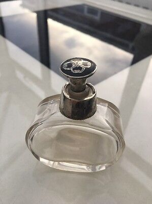 Glass Perfume Bottle With Silver Stopper