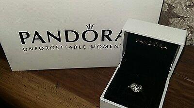 Authentic Pandora  pave heart ring size 58