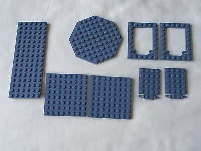 LEGO house building  - mixed lot dark grey base boards & opening hatches