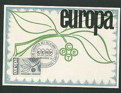FRANCE MK 1965 EUROPA CEPT STRASBURG CENTRE MAXIMUMKARTE MAXIMUM CARD MC d5305