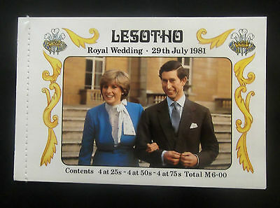 Lesotho-1981-Royal Wedding Book of Stamps-Mint with all stamps