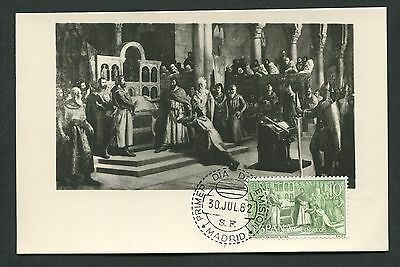SPAIN MK 1962 EL CID MAXIMUMKARTE CARTE MAXIMUM CARD MC CM d3585