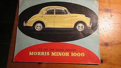 A Collectible Morris Minor Sales Brochure Booklet