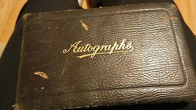 1925 Leather Covered Autograph Book