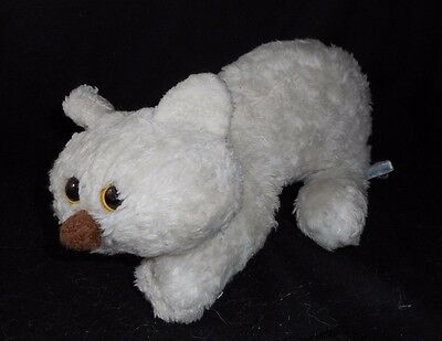 "12"" Vintage 1980 Francesca Hoerlein White Kitty Cat Stuffed Animal Plush Toy"