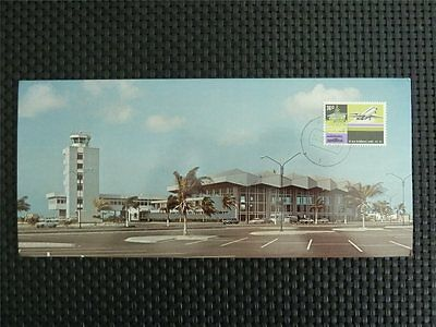 NEDERLANDSE ANTILLEN MK 1975 ARUBA AIRPORT PLANE CARTE MAXIMUM CARD MC z746