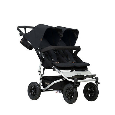 Poussette double Mountain Buggy Duet v3 Black - 2018 - garantie 3 ans