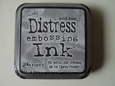 """Tim Holtz Distress Embossing Ink Clear Full Size 2"""" Bnip *look*"""