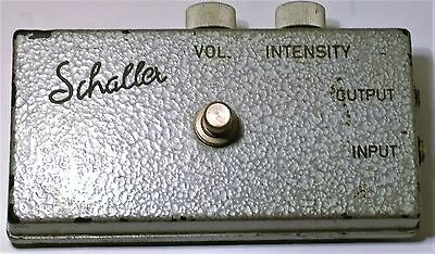 Vintage Schaller guitar Fuzz pedal..60's early 70's