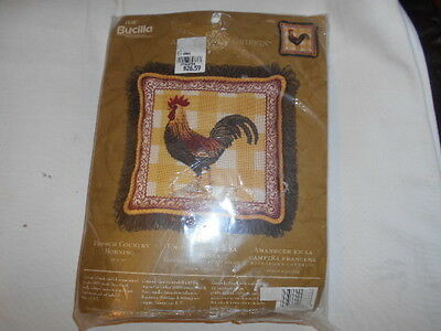 Bucilla Needlepoint Kit # 4883-French Country Morning -14 X 14 –Unused Complete