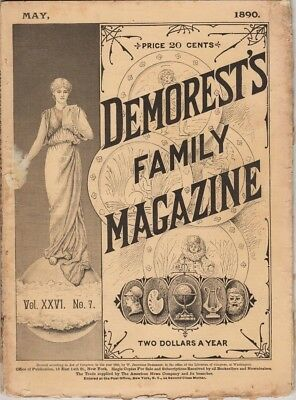Demorest's Monthly Magazine  May 1890,  Great stories prints and engravings