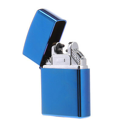 USB Rechargeable Electric Lighter Double ARC Pulse Flameless Plasma Torch Blue