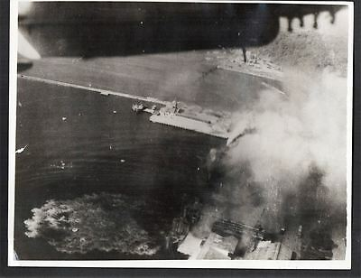 Vintage 1944 WWII Eastern Fleet Attack on Japanese Shipping Pedang, Sumatra