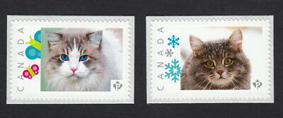 SIBERIAN, OJOS AZULES Breeds  Picture Postage MNH Pair Canada 2015 [p15/7dct2]