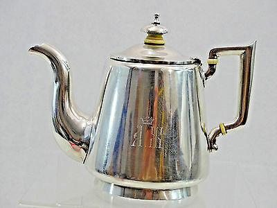 ANTIQUE IMPERIAL RUSSIAN 84 SILVER TEAPOT ST PETERSBURG 1878 wonderful