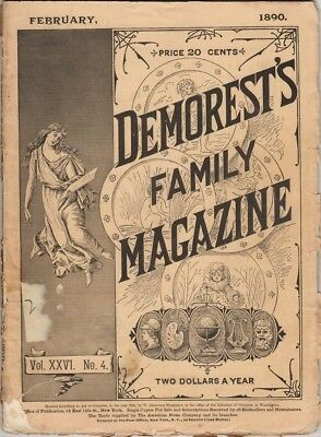 Demorest's Monthly Magazine  Februry 1890,  Great stories prints and engravings