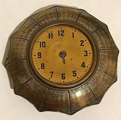 Vintage Brass Umbrella Watch Clock